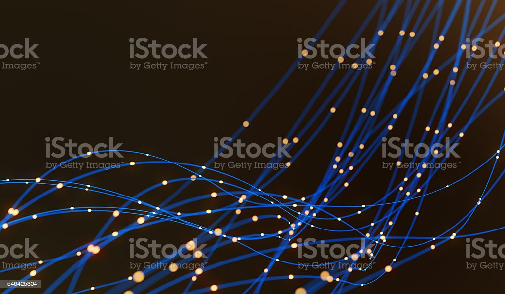 Fiber optics abstract background stock photo