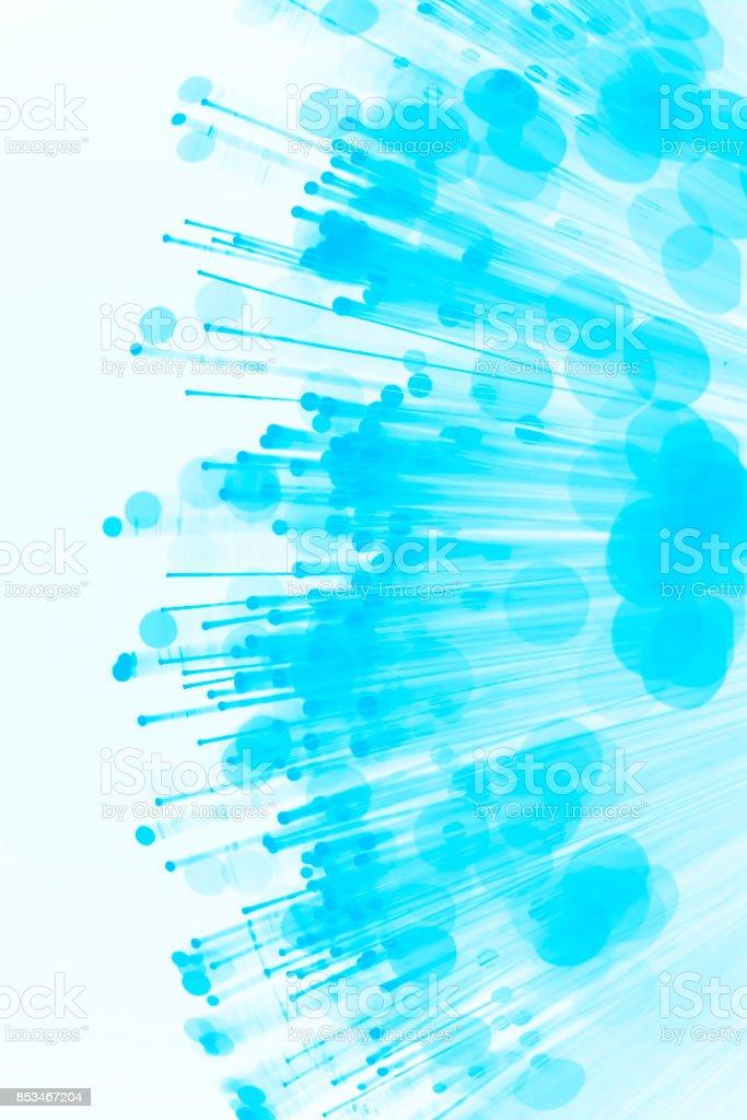 Fiber optics abstract background (blue) stock photo