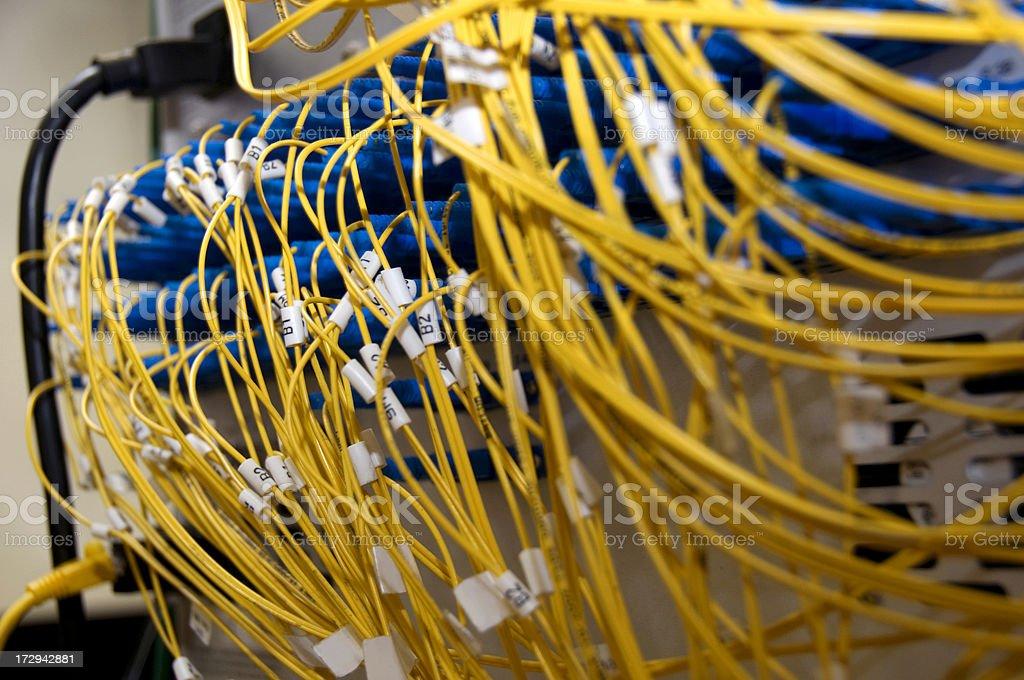 fiber optics mess royalty-free stock photo
