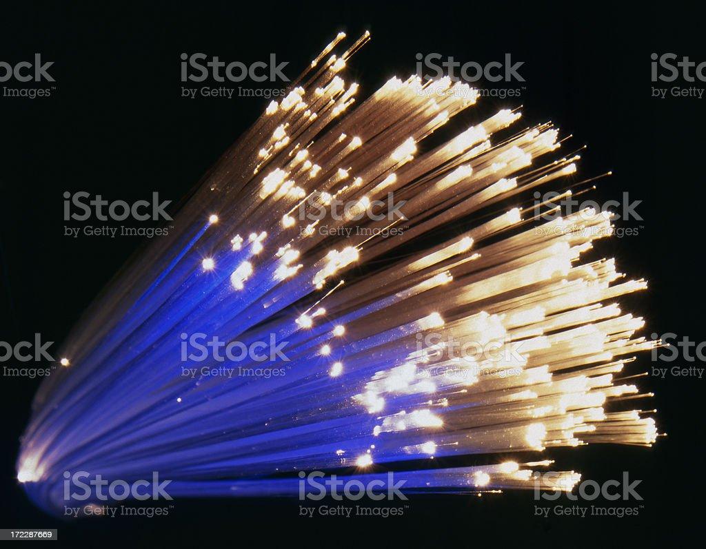 Fiber optics royalty-free stock photo