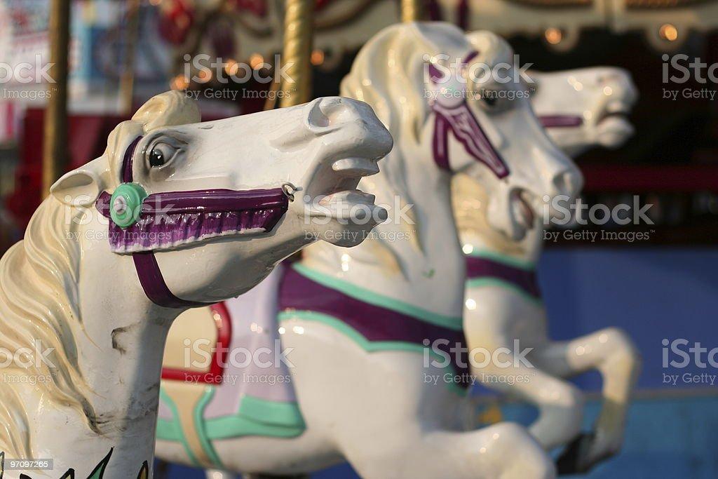 Fiberglass horse race royalty-free stock photo