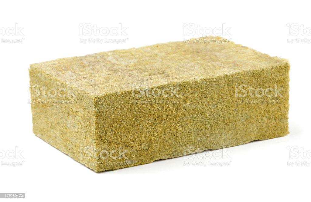 Fiberglass insulation stock photo