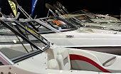 Fiberglass speed boats at Istanbul Boat Show