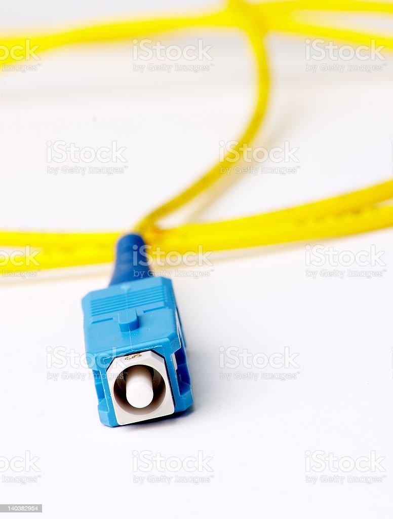 SC Fibre Optic Connector stock photo