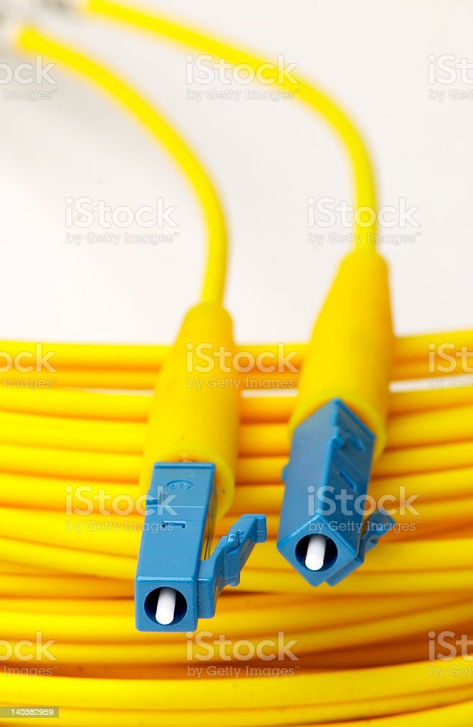 LC Fibre Optic Connector stock photo