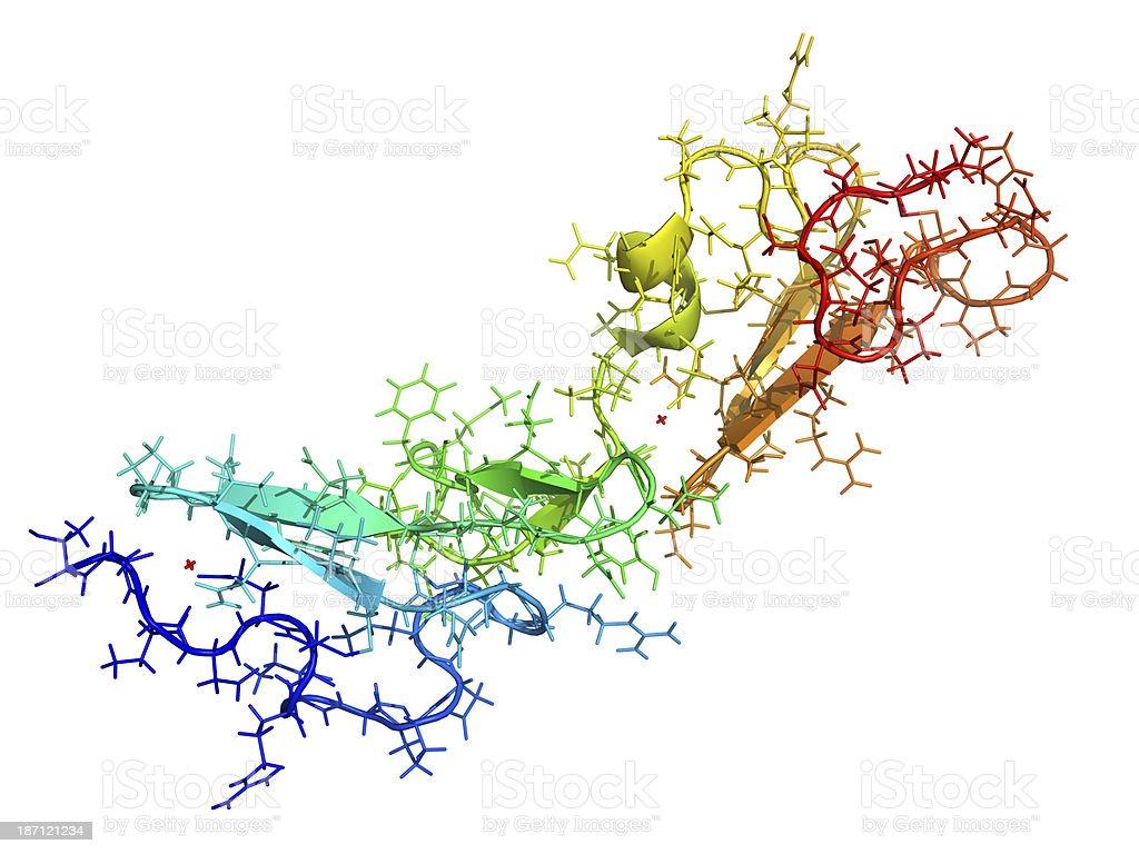 Fibrillin glycoprotein molecule stock photo