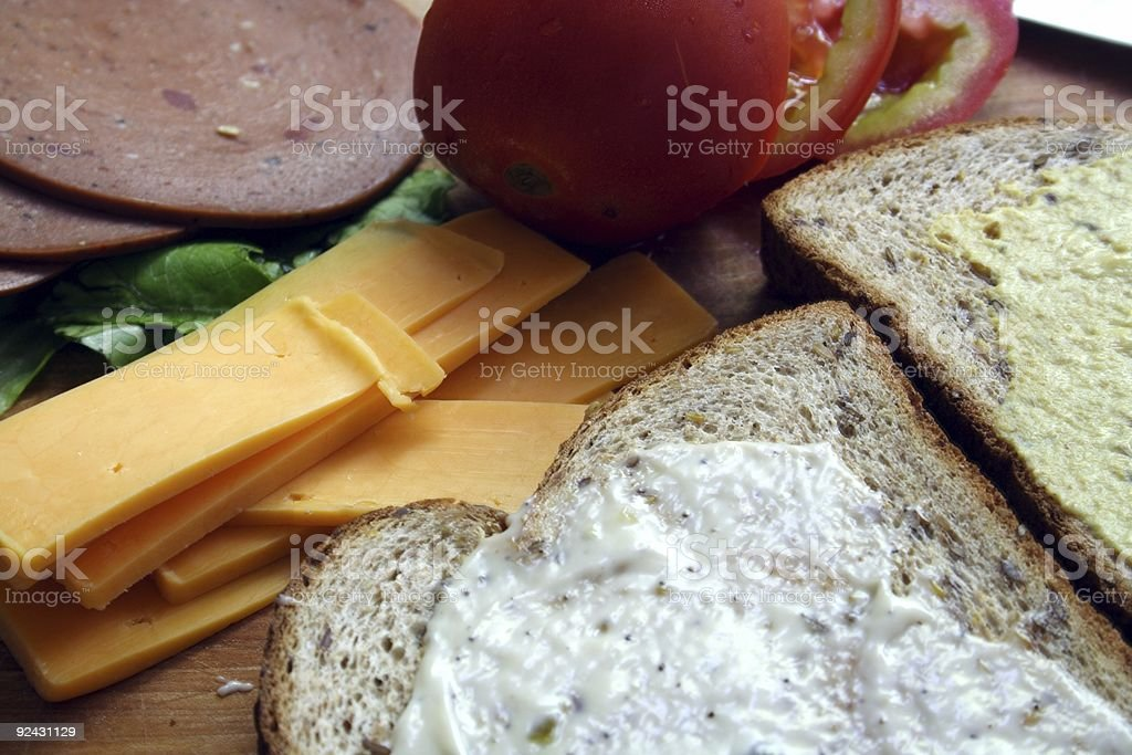 Fibrous Lunch royalty-free stock photo