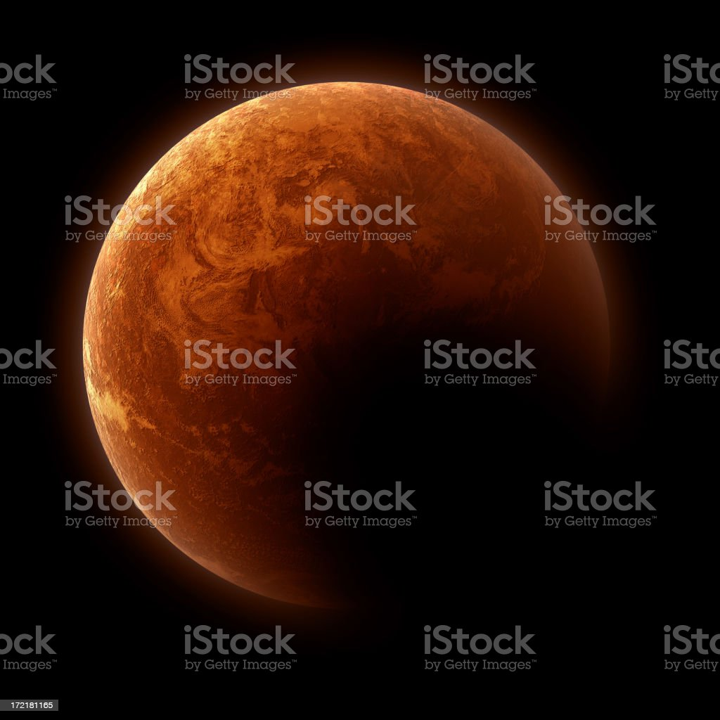 Fictional planet - detailed stock photo