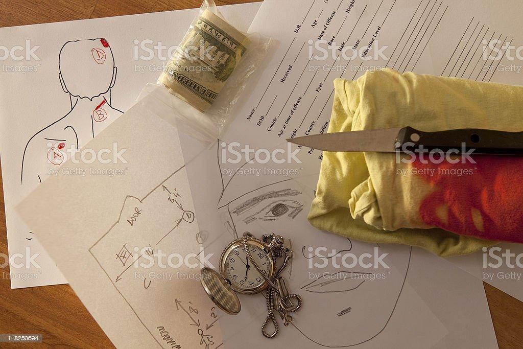Fictious Crime Scene stock photo