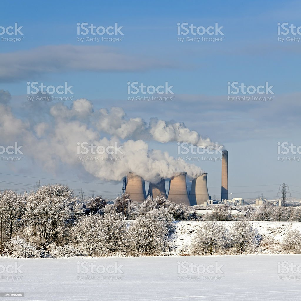 Fiddlers Ferry power station, Cheshire stock photo