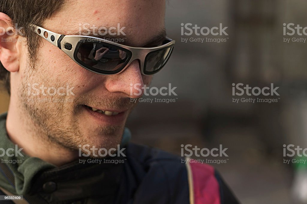 Fiddling with a smile royalty-free stock photo