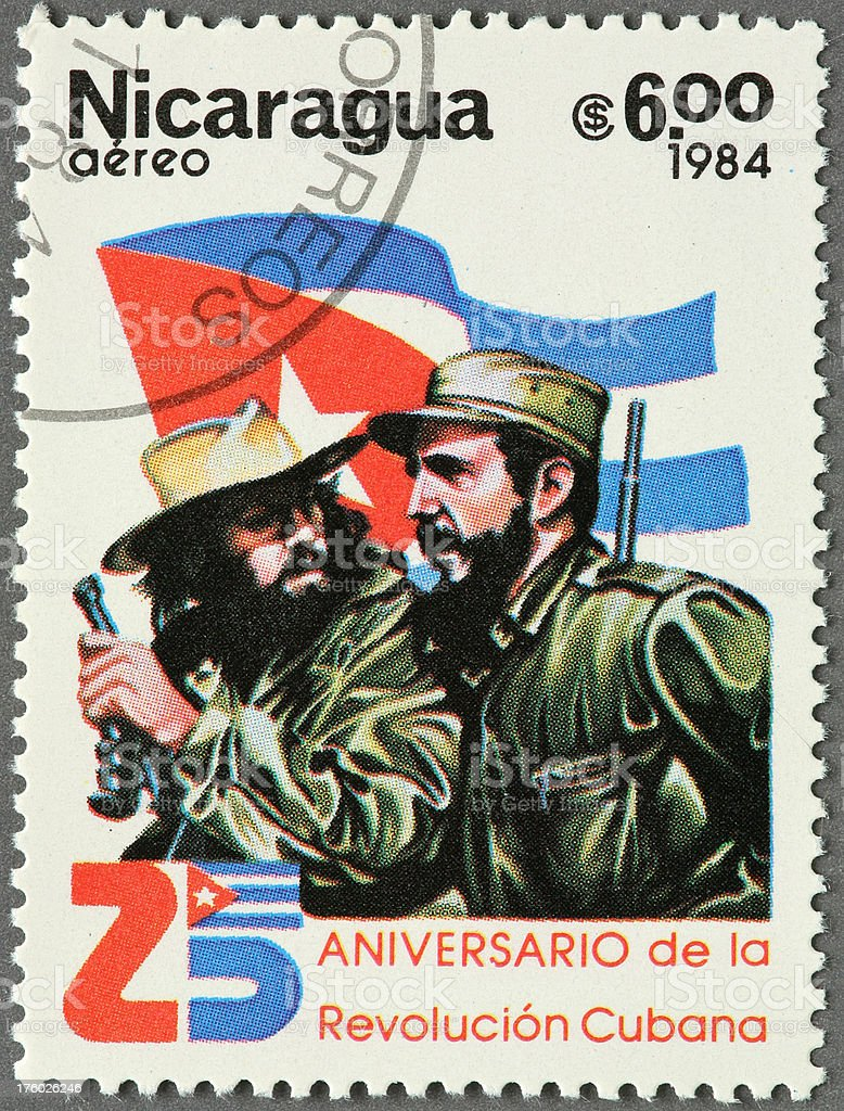 Fidel Castro and Che Guevara stock photo