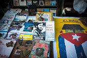 Fidel Castro book at market in Havana, Cuba