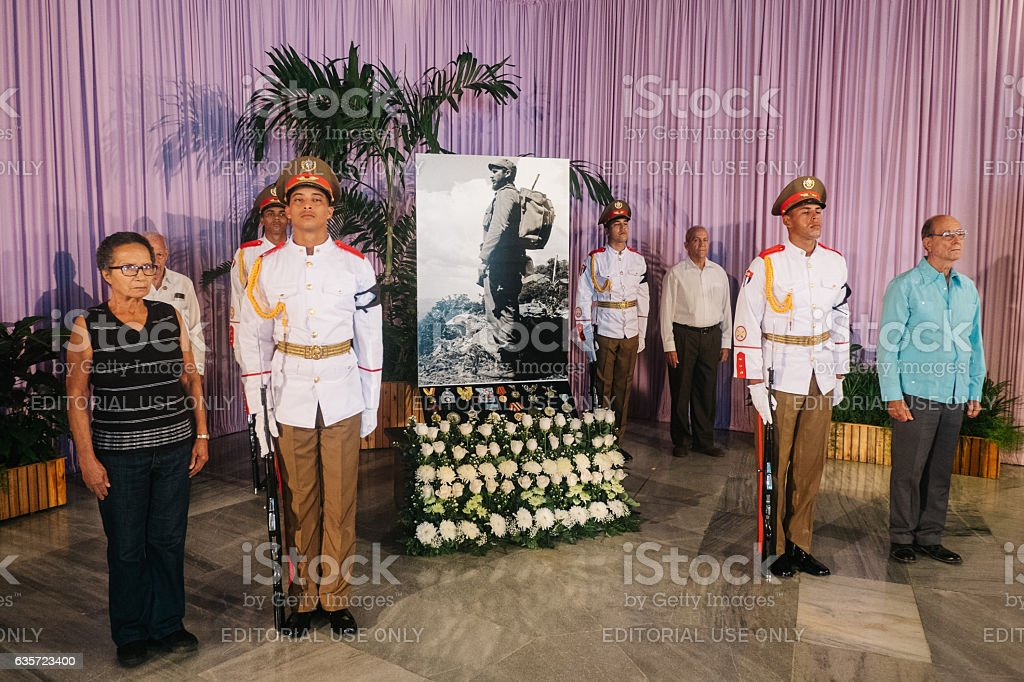 Fidel Castro Funeral in Havana, Cuba stock photo