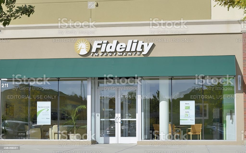 Fidelity Investments royalty-free stock photo