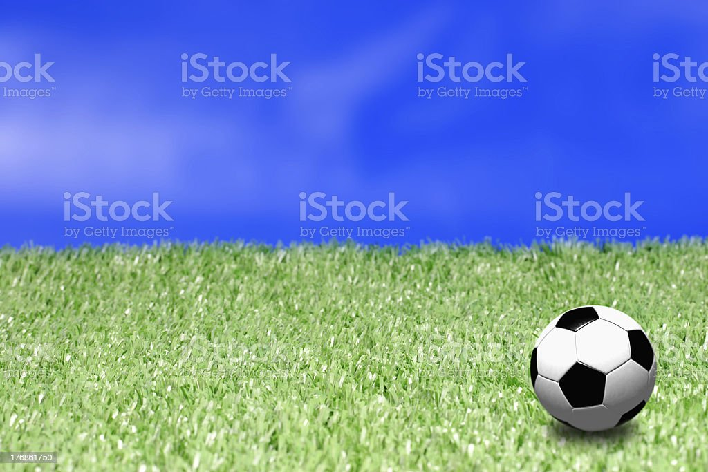 Field and ball stock photo