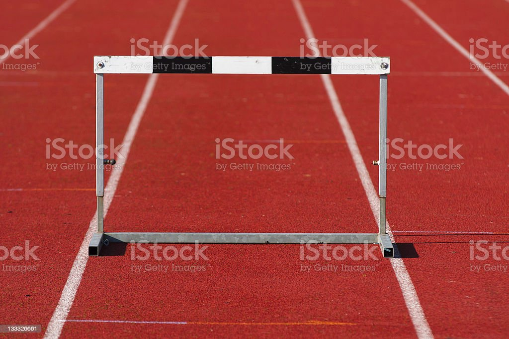 Field and track hurdle royalty-free stock photo