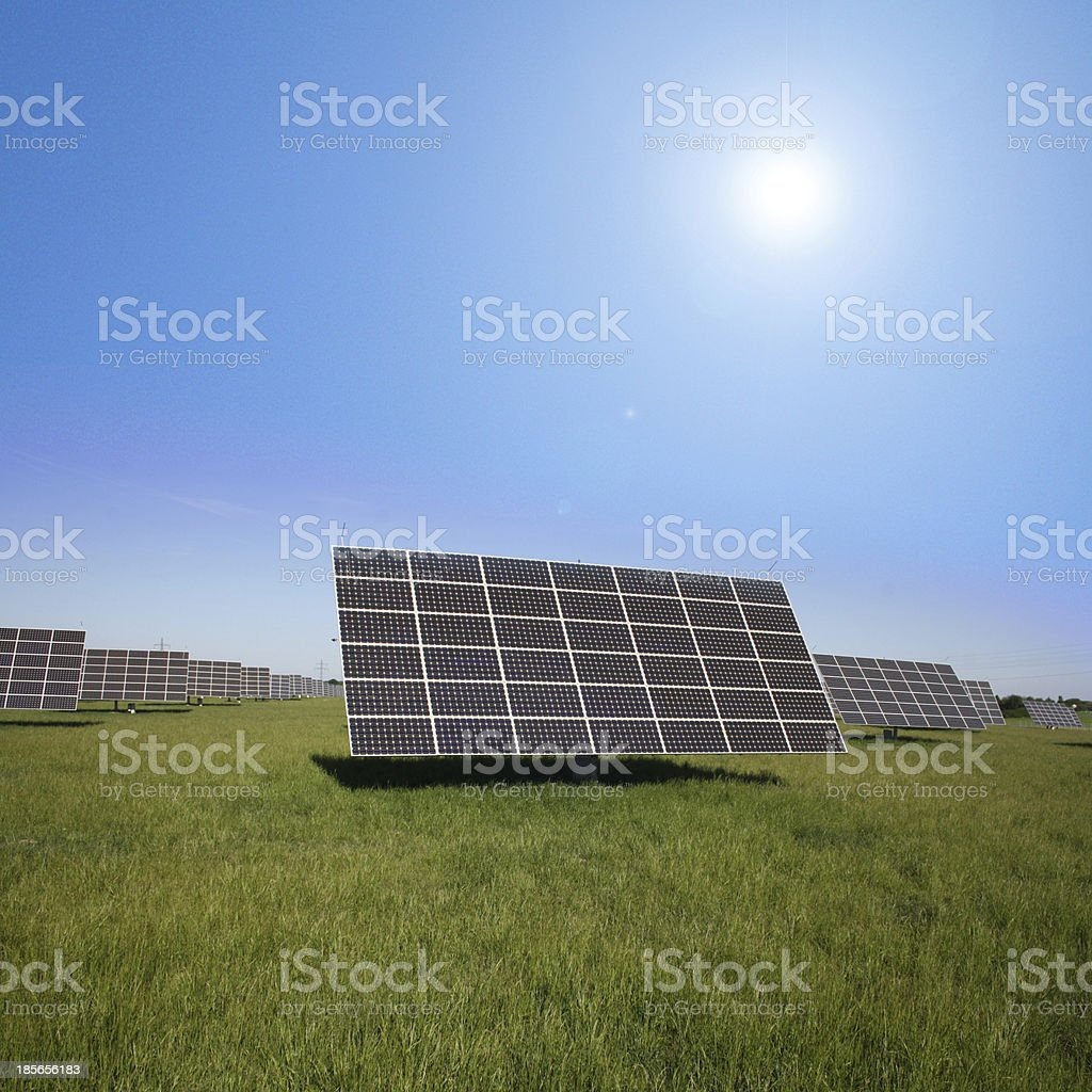 field area for solar installations royalty-free stock photo