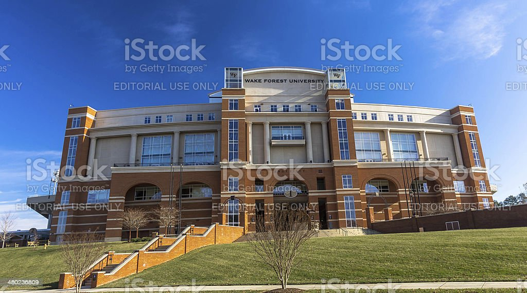 BB&T Field at Wake Forest University stock photo