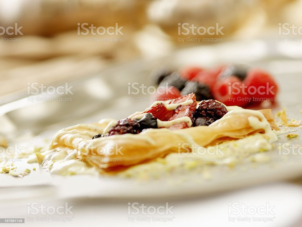 Field Berries in Phylo Pastry royalty-free stock photo