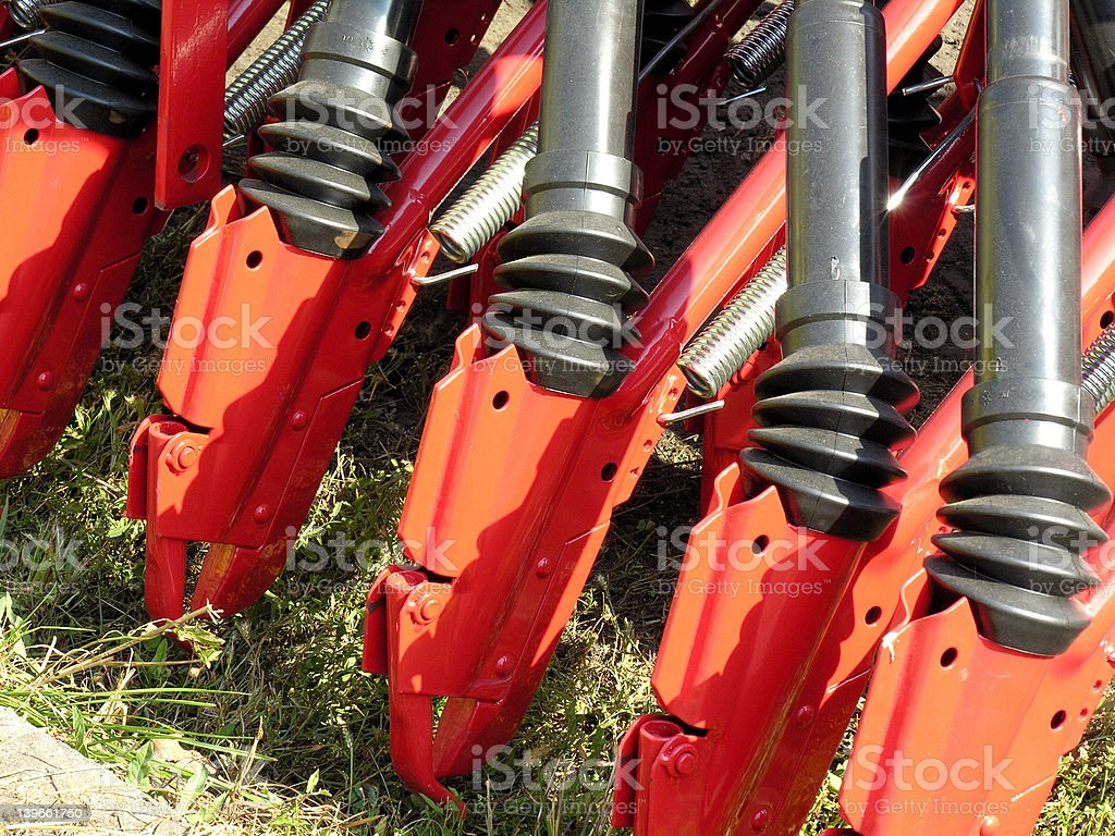Field cultivating machine royalty-free stock photo