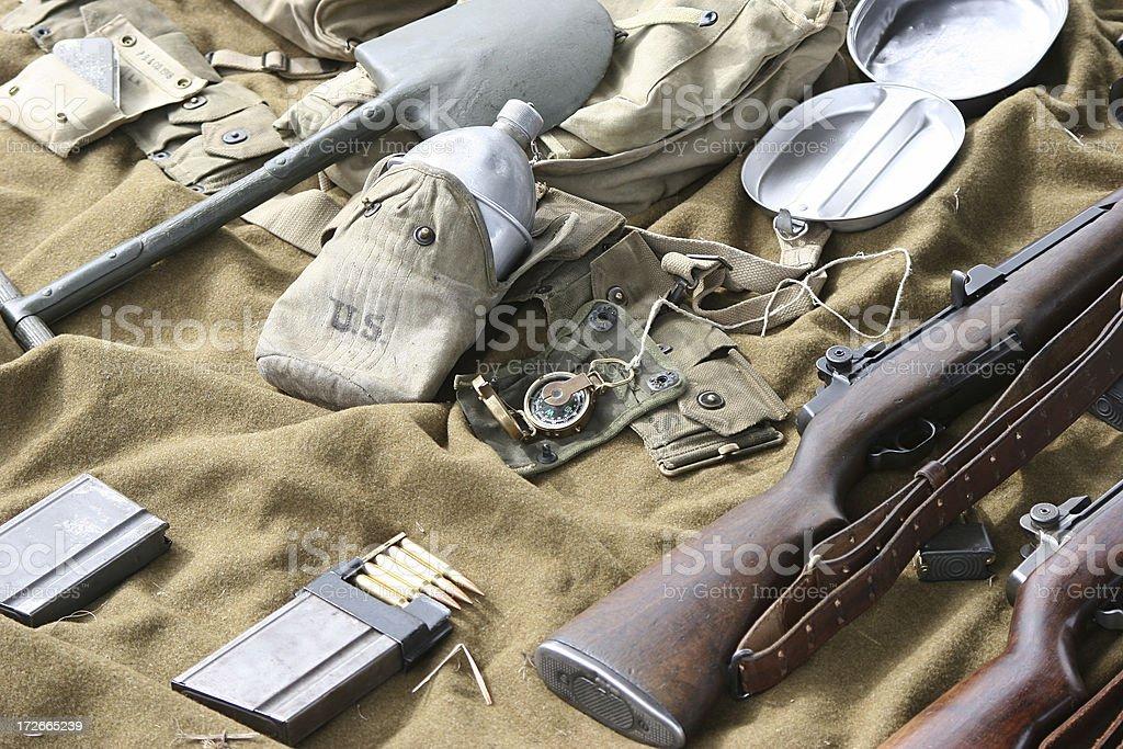 WWII Field Gear royalty-free stock photo