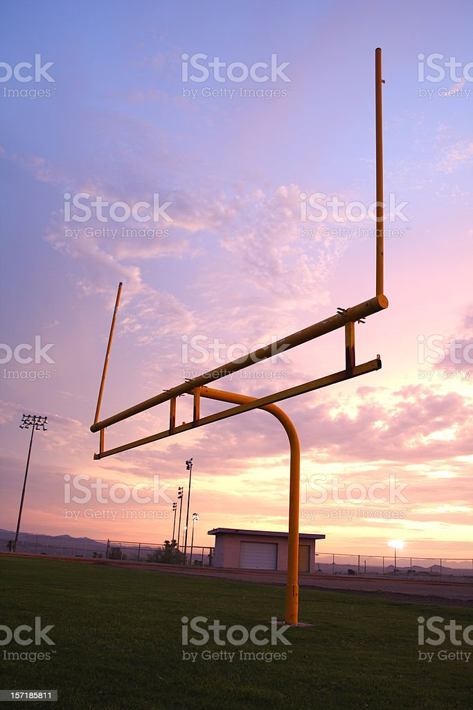 Field goal stock photo
