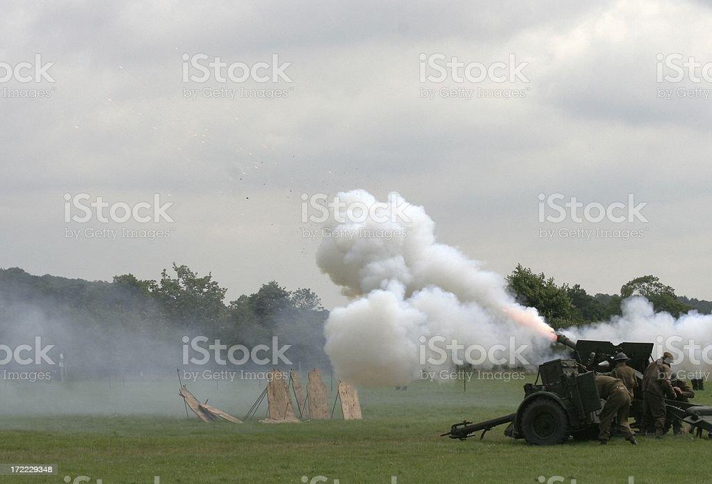 WWII Field Gun royalty-free stock photo