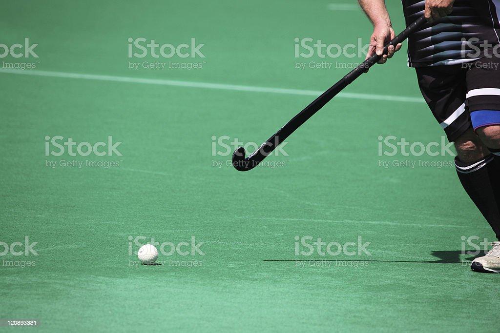 Field hockey player stock photo