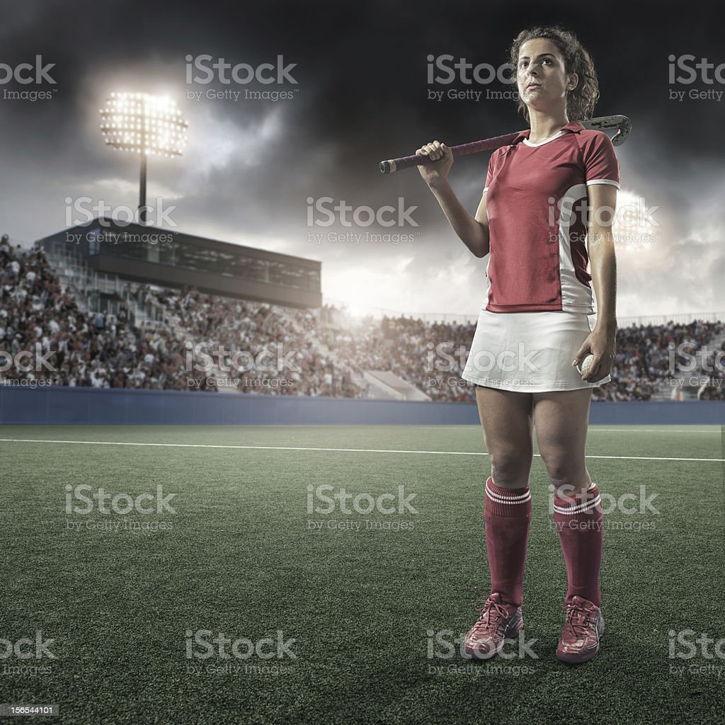Field Hockey Player stock photo