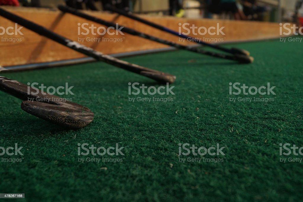 Field Hockey Sticks stock photo
