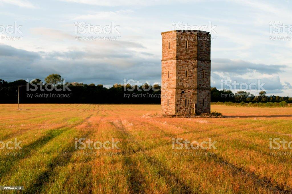 Field in Carlisle, UK stock photo