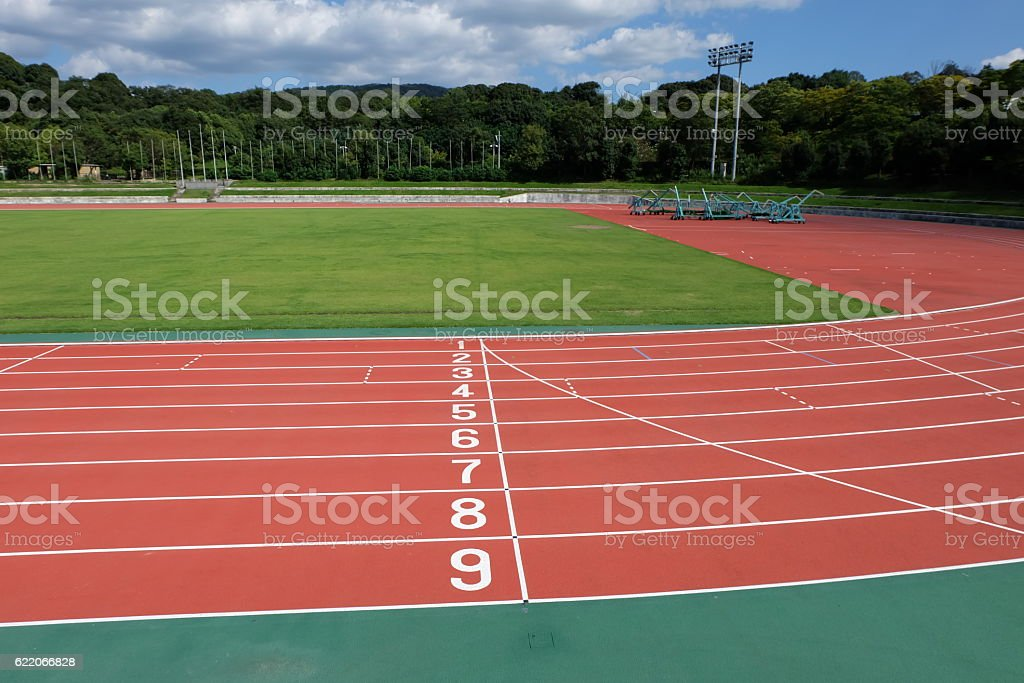 field in stadium stock photo