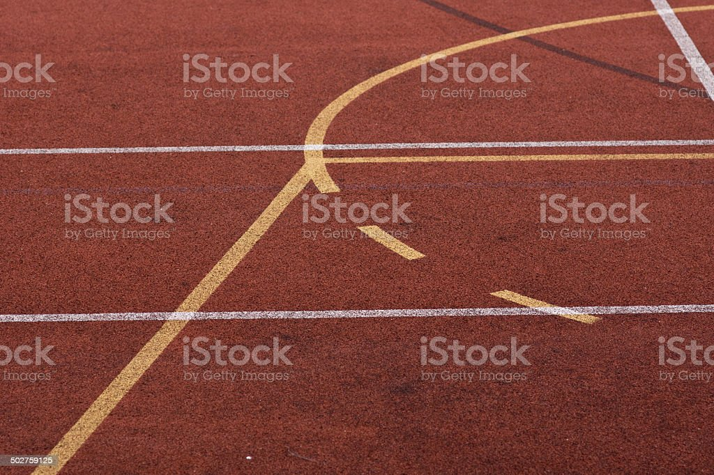 Field lines stock photo