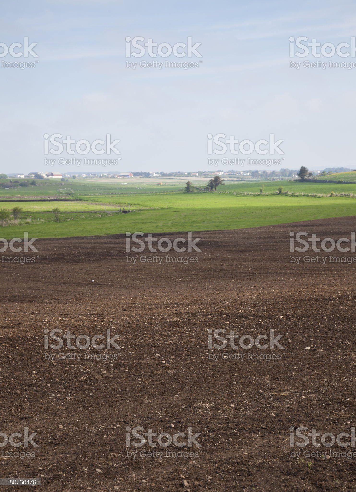 Field Newly Plowed royalty-free stock photo