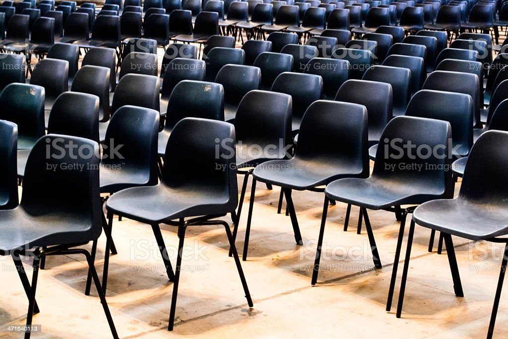 Field of chairs stock photo