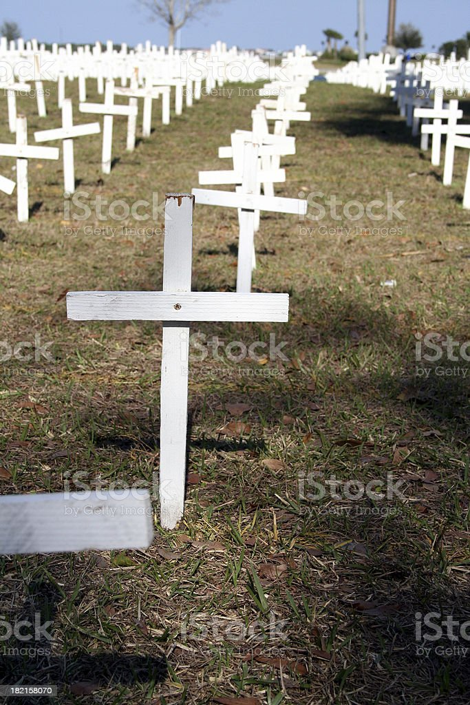 Field of Crosses II stock photo