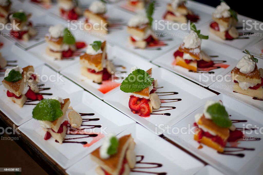Field of Desserts stock photo