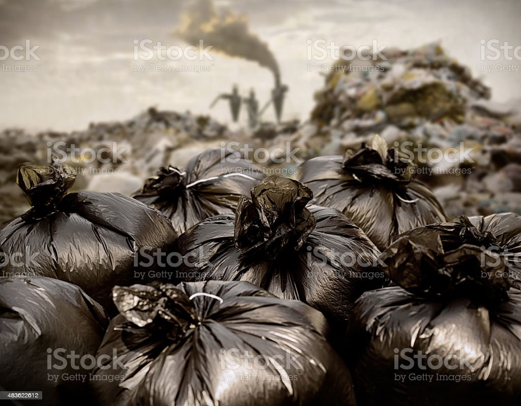 Field of Garbage stock photo