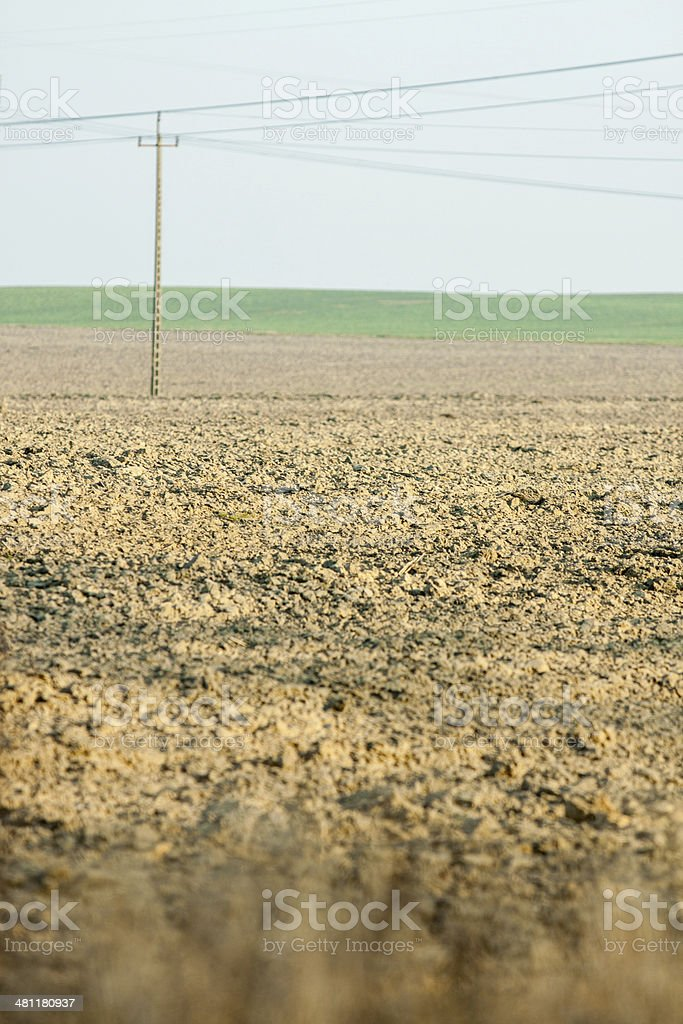 Field of land under cultivation royalty-free stock photo
