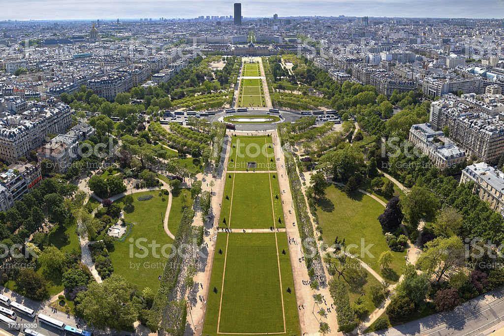 Field of Mars in Paris, France. royalty-free stock photo