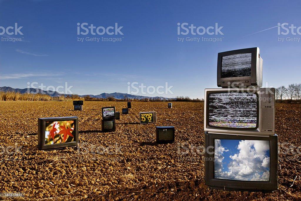 TV field royalty-free stock photo
