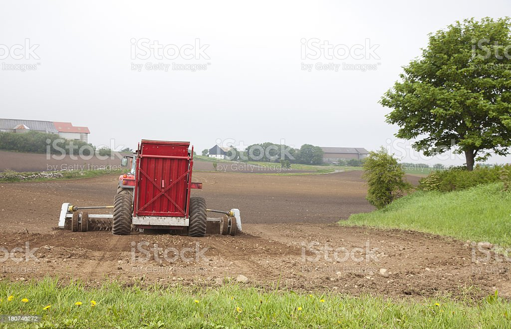 Field (Plowed) royalty-free stock photo