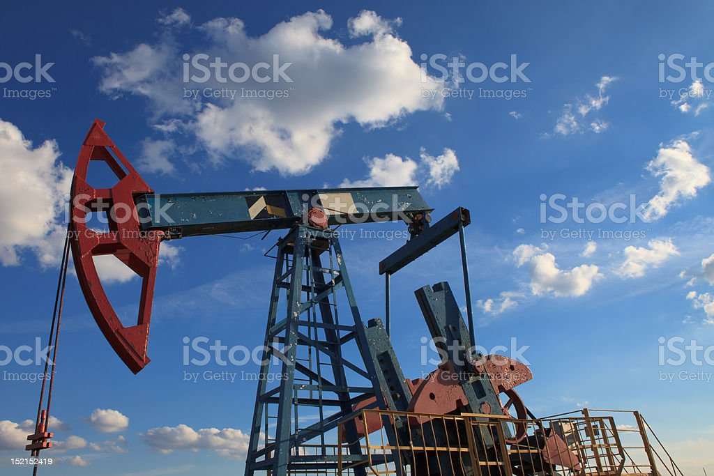 Field pump under the cloud royalty-free stock photo