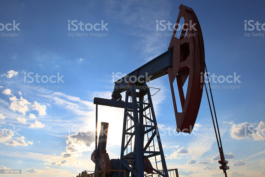 Field pump under the sky royalty-free stock photo