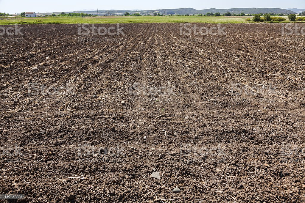 Field ready for seeding royalty-free stock photo