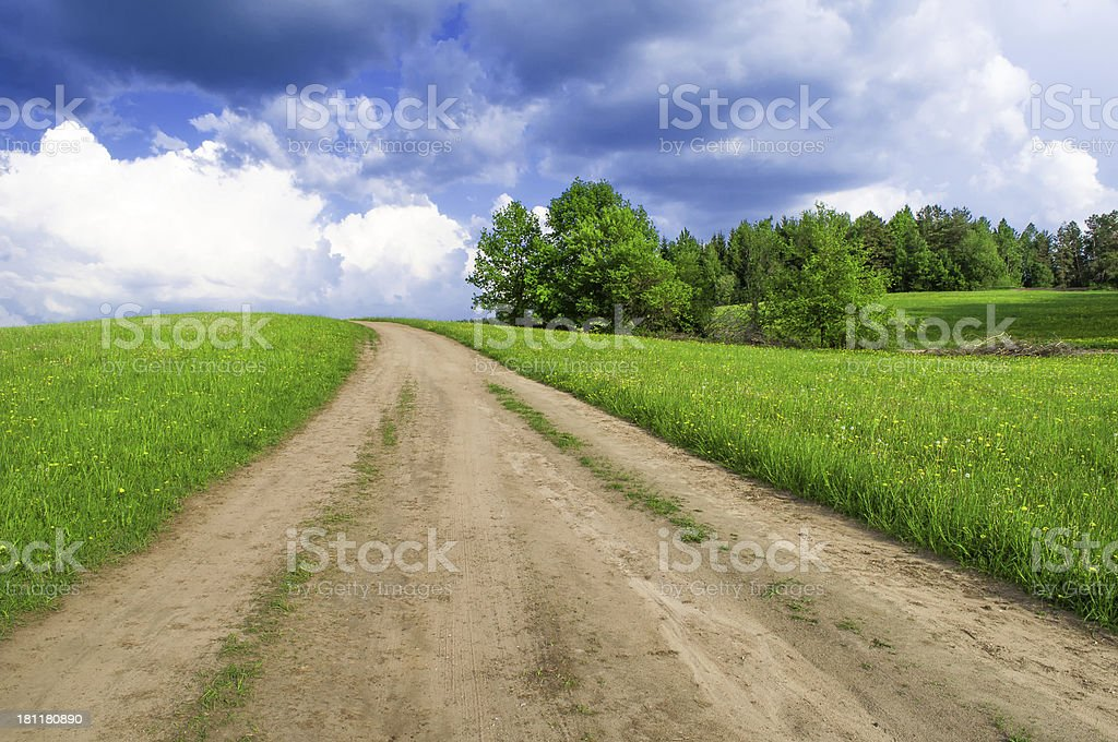 Field road royalty-free stock photo