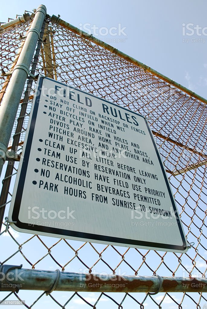 Field Rules stock photo