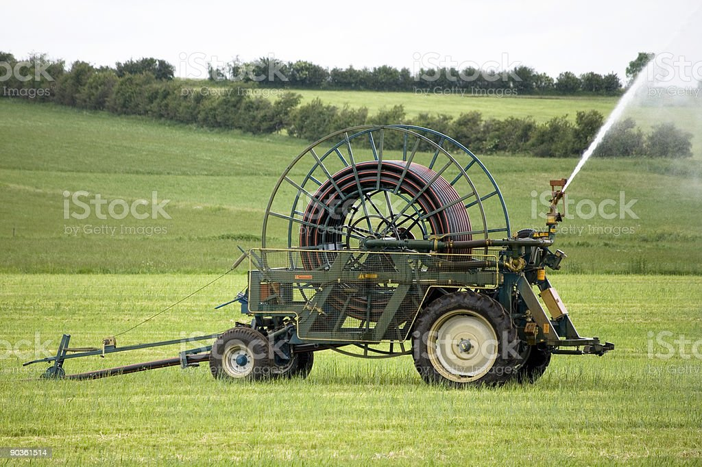 Field Sprinkler royalty-free stock photo