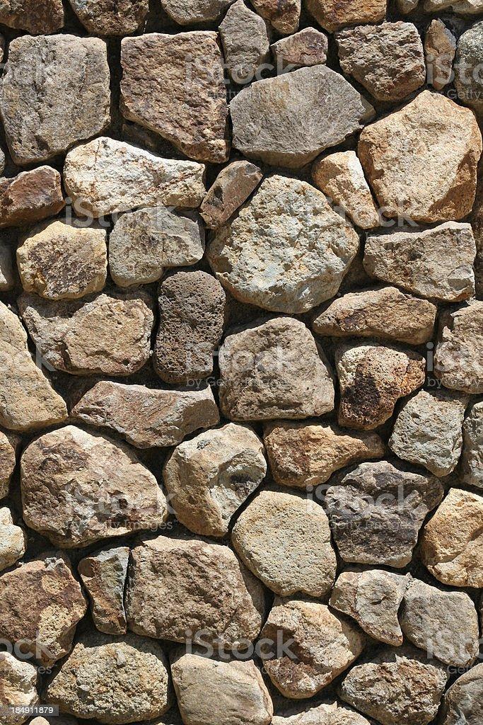 Field Stone Wall Vt royalty-free stock photo